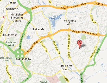 Map of our location - P.R.O. ORDIDGE SERVICES Carpet and Upholstery Cleaning